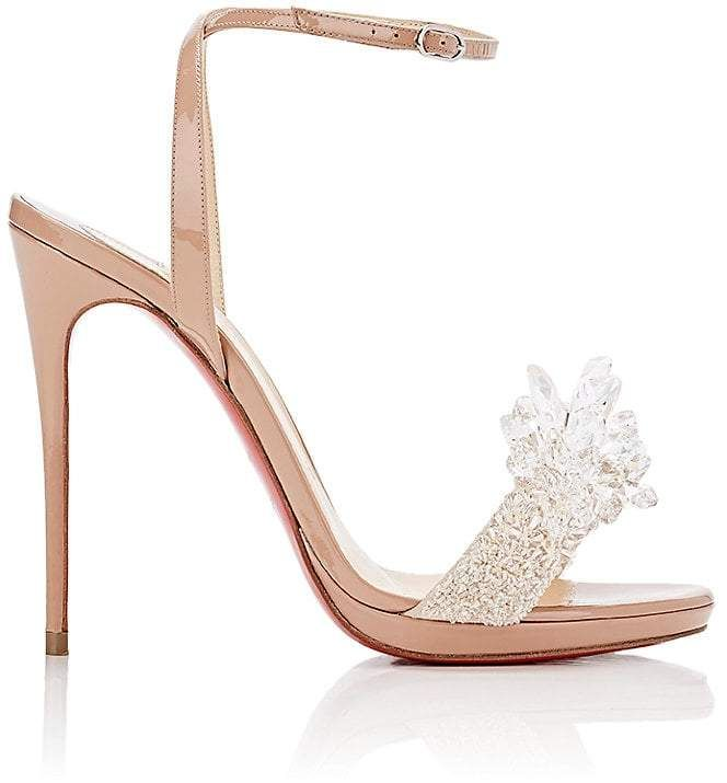 aa70fc1d2bc Christian Louboutin Women s Crystal Queen Patent Leather Sandals ...
