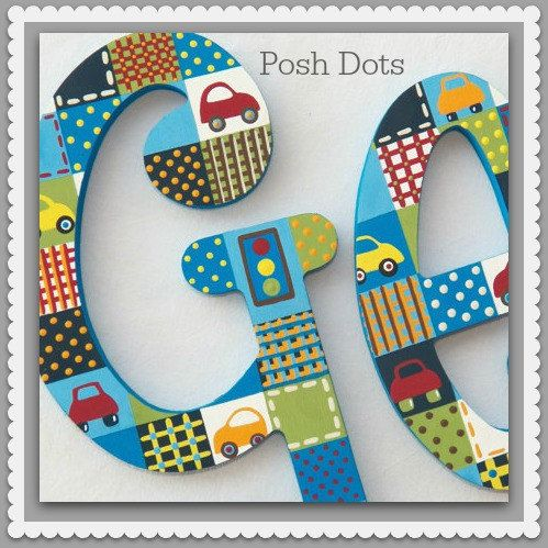 Nursery Letters Wood Letters Wall Letters Hanging  by PoshDots