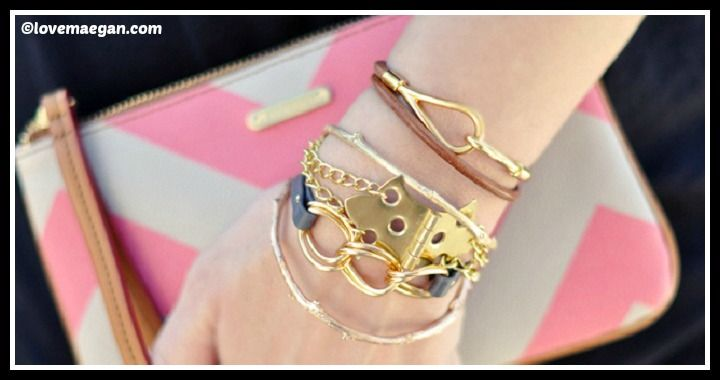 DIY Hinge Bracelet With Gold Chains Tutorial