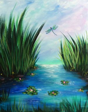 Dragonflies & Lily Pads