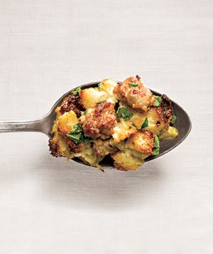 Best Thanksgiving Stuffing ever! Sausage and Sage Stuffing from Real Simple.