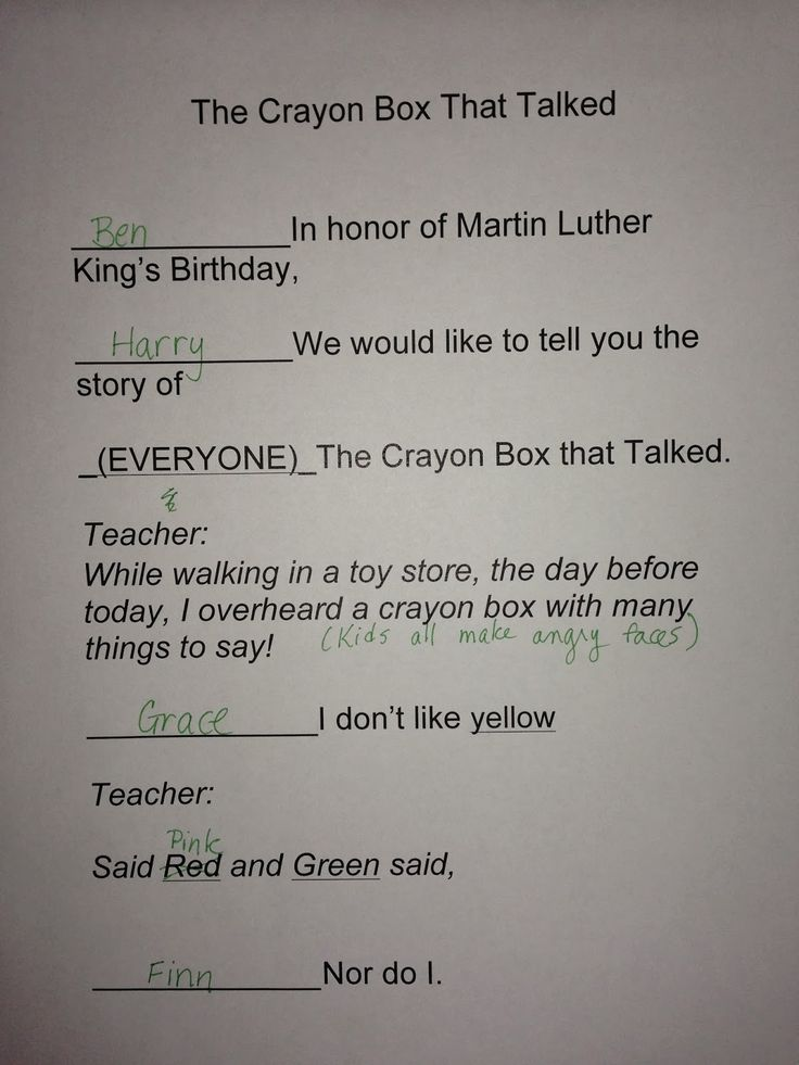 Since I started teaching, we have celebrated Martin Luther King's birthday on January 15th with a presentation of   The Crayon Box T...