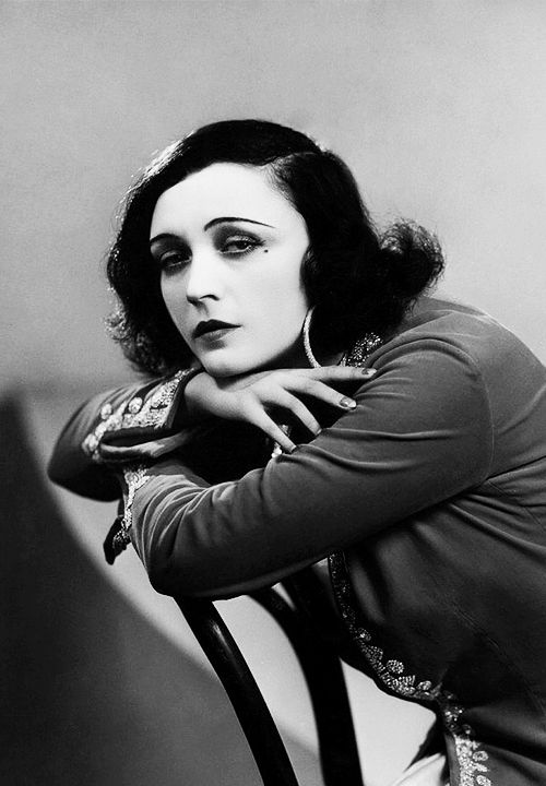 Pola Negri. Best known for her connections to Rudolph Valentino.