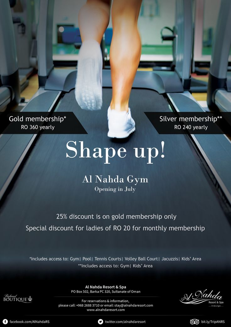 SHAPE Up at our brand new Gym!  Gold membership RO 360 yearly* Silver membership RO 240 yearly**  *Includes acess to: Gym | Pool | Tennis Courts | Volley Ball Court | Jacuzzis | Kids* Area  **Includes access to: Gym | Kids' Area  Call us now on 2688 3710 for special introductory membership details!  #oman #omanhotel #muscat #omangym #muscatgym