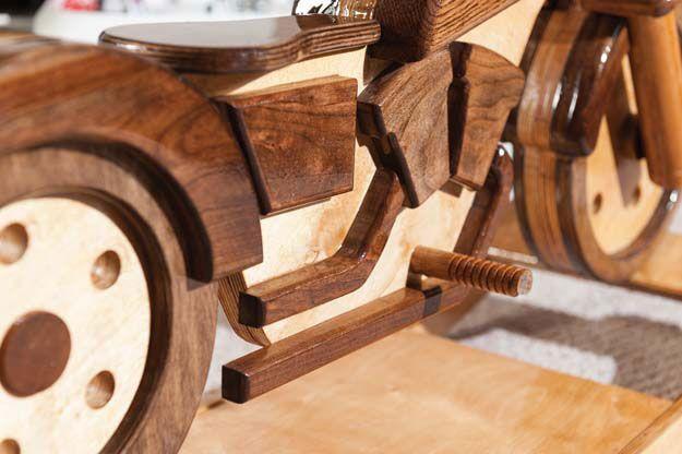 Motorcycle rocker woodworking plans 2 diy pinterest for Woodworking plan for motorcycle rocker toy