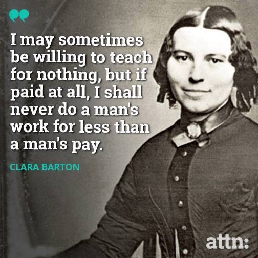 A Quote from Clara Barton, a key figure in this module on the Civil War