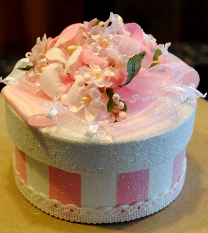 GIFT BOX/Cake Topper......$15 TheBouncingFrogs #decoratedgiftboxes #handmadegiftboxes #decoratedboxes