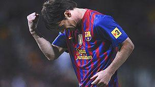 Lionel Mess, Barcelona, in Qatar Foundation shirt