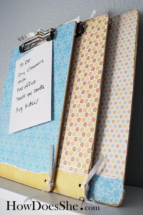 Super cute Clip Board tutorial! These would make great Teacher Appreciation gifts!