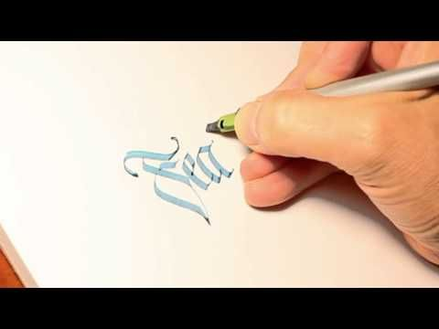Parallel Pen Calligraphy - Feather