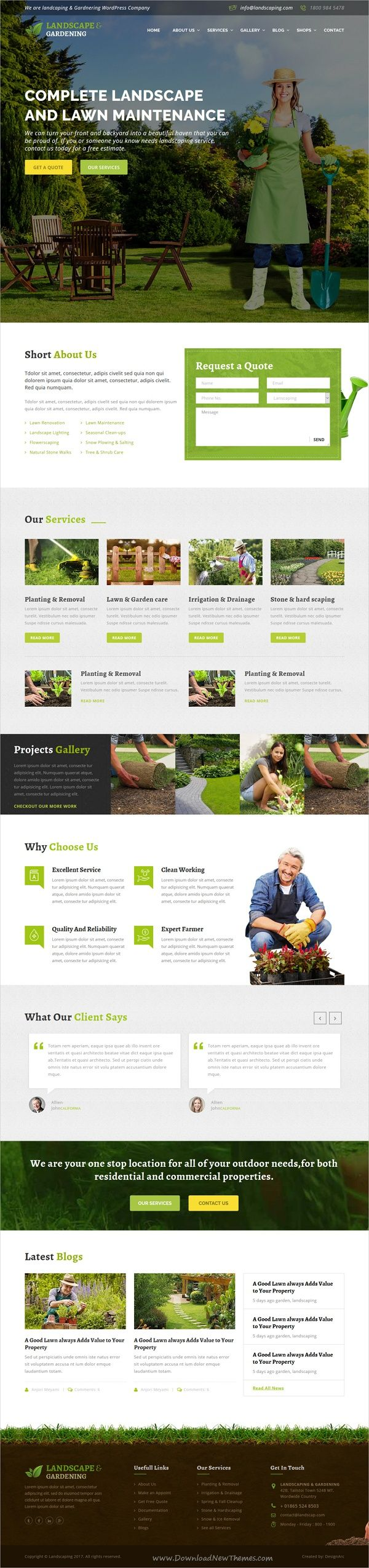Landscape & gardening is a wonderful 4in1 #responsive HTML bootstrap template  #Gardening, #Landscaping Companies, Lawn Services, Agriculture, Landscape Architects and all type of Gardner's Business websites download now➩ https://themeforest.net/item/lanscape-gardening-html-template/17689207?ref=Datasata