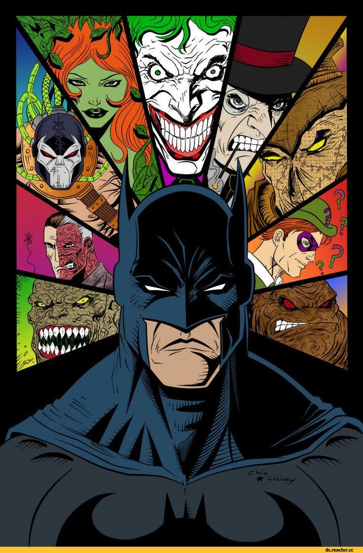 Batman,Бэтмен, Брюс Уэйн,DC Comics,DC Universe, Вселенная ДиСи,фэндомы,DC Evil,Злодеи,Killer Croc,Убийца Крок, Уэйлон Джонс,Two-Face,Двуликий, Харви Дент,Bane,Бэйн,Poison Ivy,Ядовитый Плющ, Памела Лилиан Айсли,Joker,Джокер,Penguin,Пингвин, Освальд Кобблпот,Scarecrow,Пугало, Джонатан