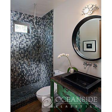 Geologie Merge Pattern, blend, slate, bathroom, shower, shower backsplash