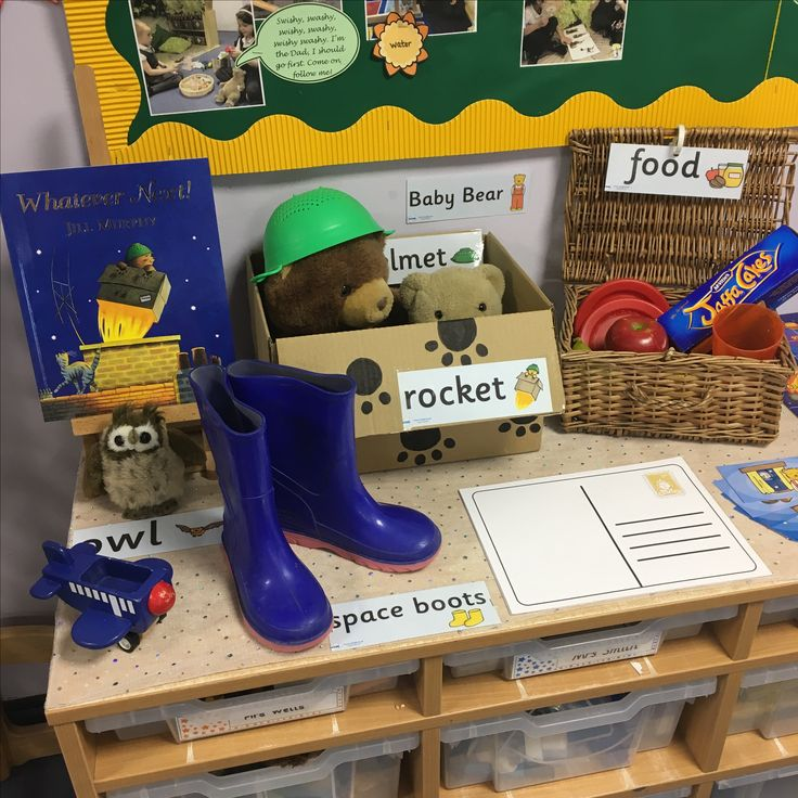 EYFS writing table - whatever next!