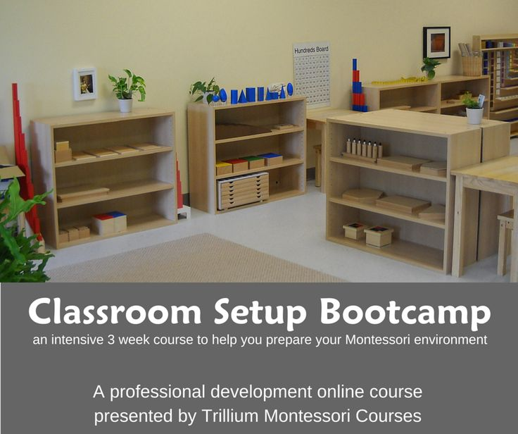 An intensive online course to help you prepare your Montessori classroom environment for the new school year