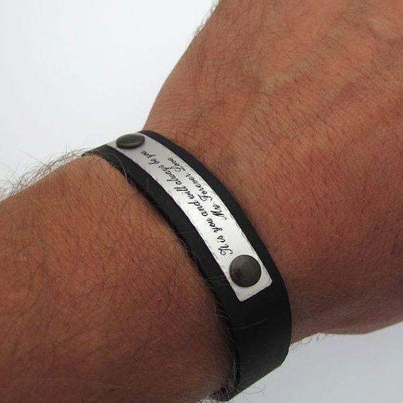 the 25 best mens engraved bracelets ideas on pinterest