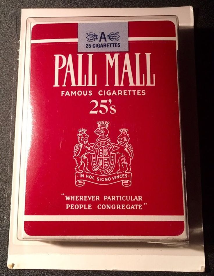 Vintage Sealed Pall Mall Cigarette Deck Of Playing Cards~Tobacco Memorabilia  | eBay