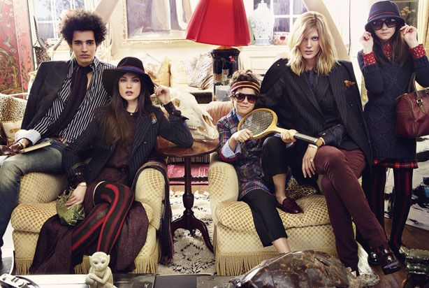 Noble Fir Inspiration - Family of Tommy Hilfiger Fall Winter 2011-2012 Advertising Campaign