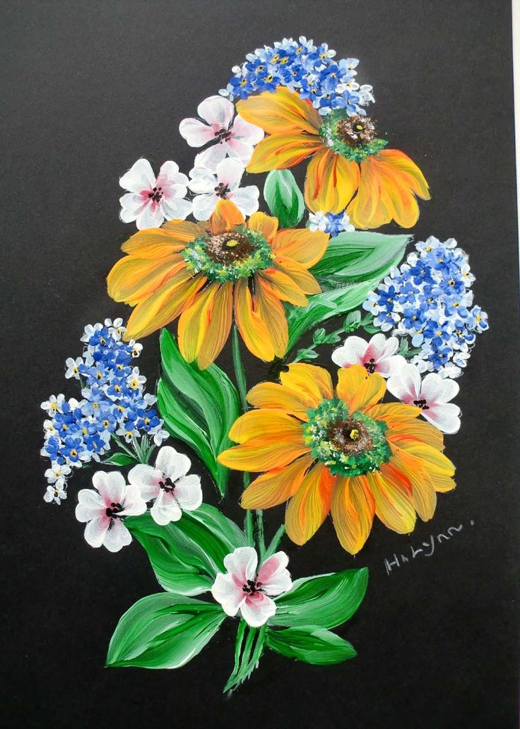 Flowers Painted Black