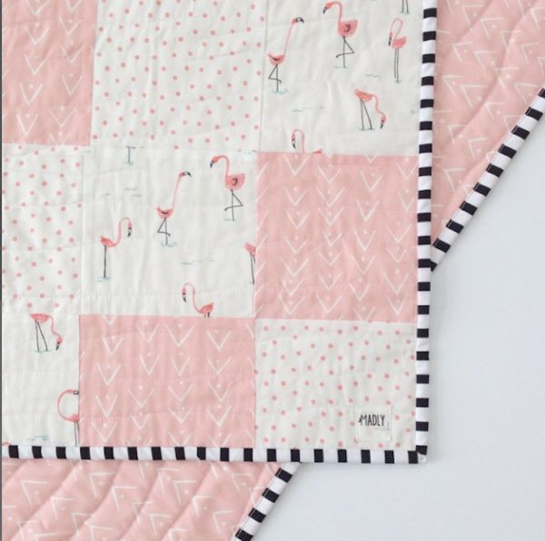 Flamingo Quilt Toddler Quilt Baby Girl Quilts Girls Quilts