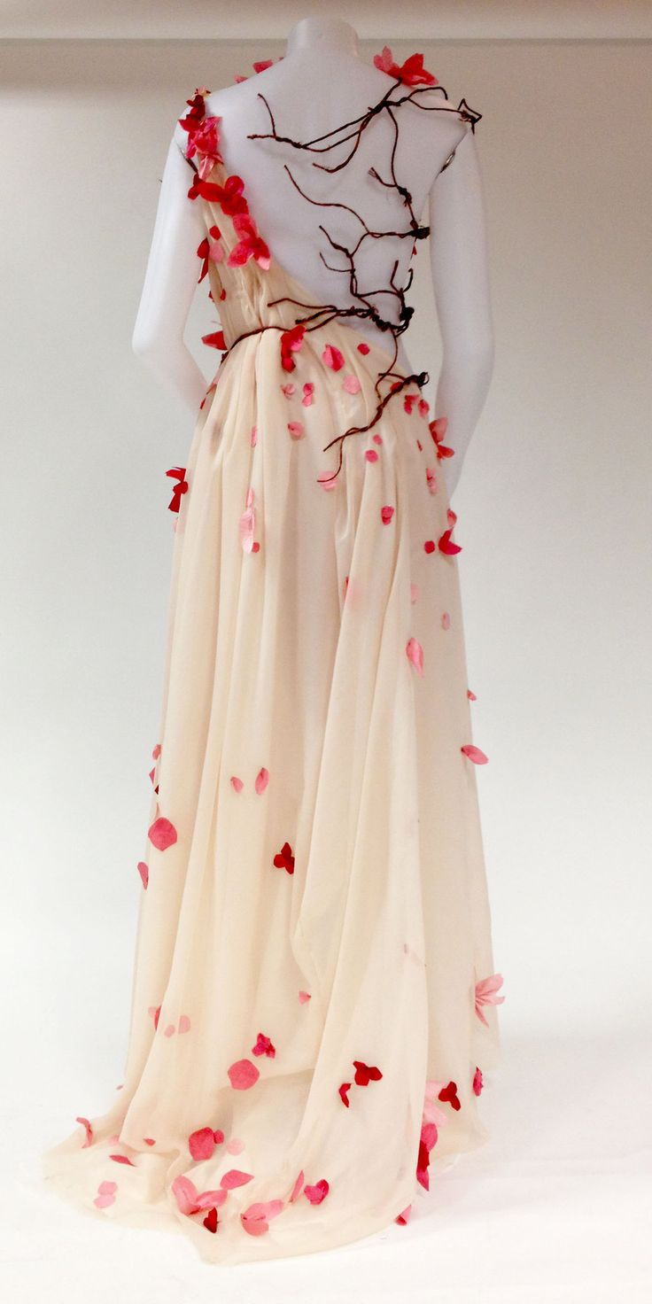 Persephone Back by Lyrota.deviantart.com on @deviantART.  One of the most beautiful costumes!    I am attempting to duplicate this with a purchased white chiffon dress and cut out silk rose petals.  A lot of work so far!  Will post finished piece.
