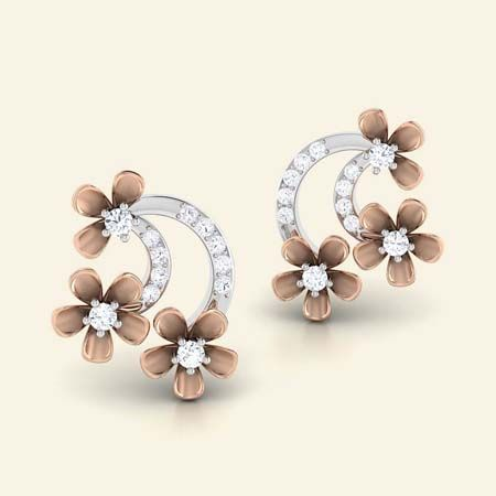 Flora field diamond studs