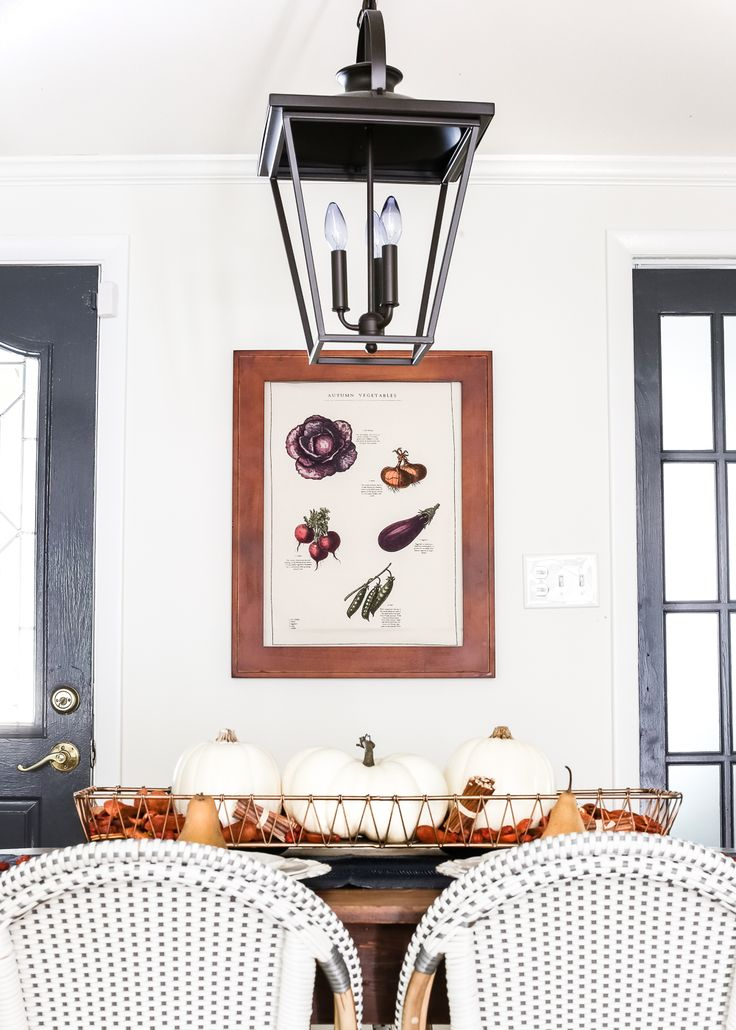 Simple autumn tea towel art