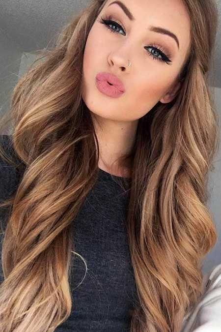 Light Brown Hair Colors Summer Color Caramel Lips