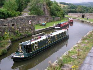 Modern narrowboats for leisure cruising,  Bugsworth Basin, Buxworth, Derbyshire