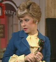 Fawlty Towers. Sybil Fawlty (Prunella Scales). Image credit: British Broadcasting Corporation.