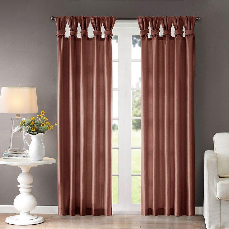 Madison Park Natalie Twisted Tab Lined Curtain, Drk Orange