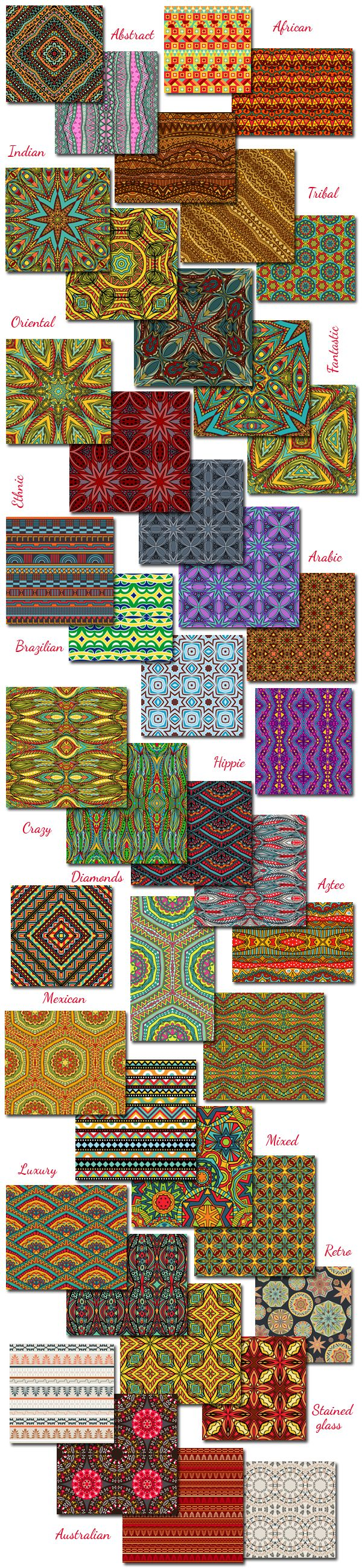 Ethnic Patterns Collection 2014 on Behance
