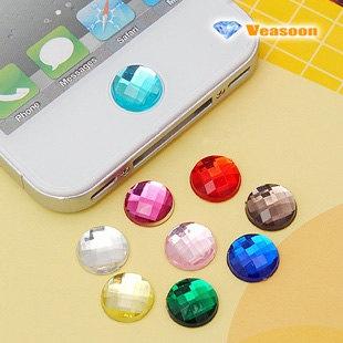 da akryl button sticker tilfaeldige farver p.