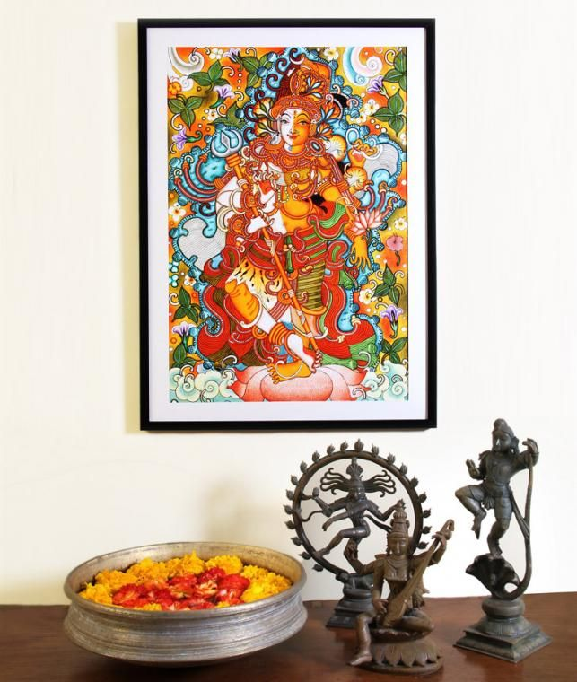Buy Mystically Alive by Suham Arteriors Chola Bronze Statues and Kerala's Mural Artwork Online at Jaypore.com