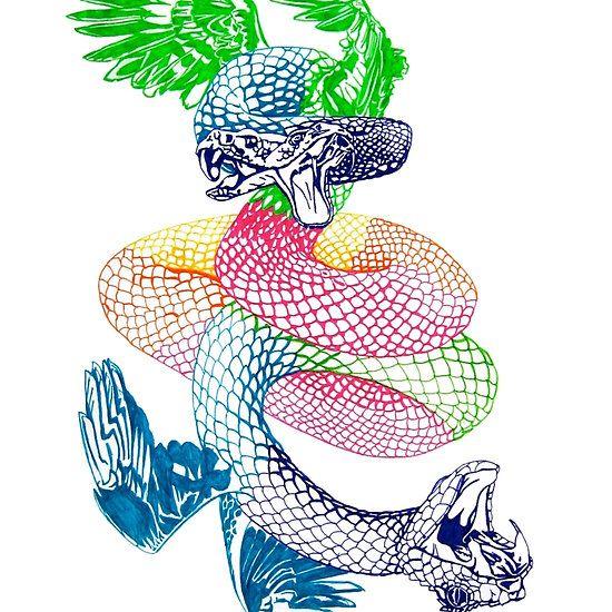 #quetzalcoatl #serpent #snakes #featheredserpent #redbubble #mythology #myth #deity #mesoamerican #maya #aztec
