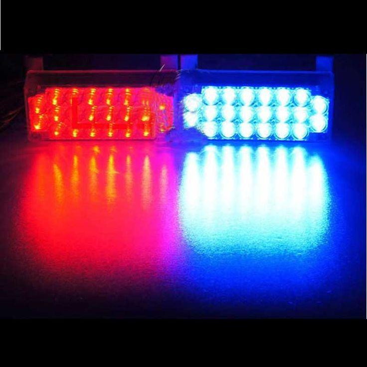 44led car auto strobe flash light panel emergency 3 flashing modes dc 12v 5w amber strobe