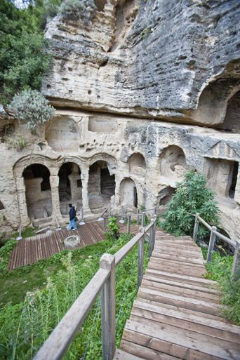 Besikli Cave-Antakya (1-7 th century).,Turkey. http://www.anadolujet.com/images/skylife/1-2010/1591/61_1591BesikliMagara.jpg