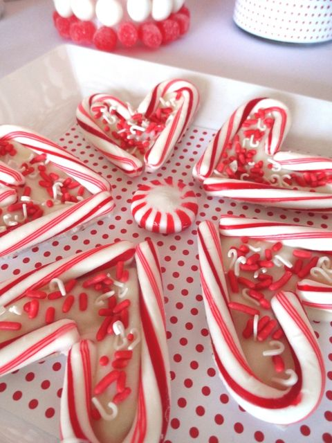 another cute party idea. I am gonna buy some candy canes on clearance after Christmas and use this for a valentines day party