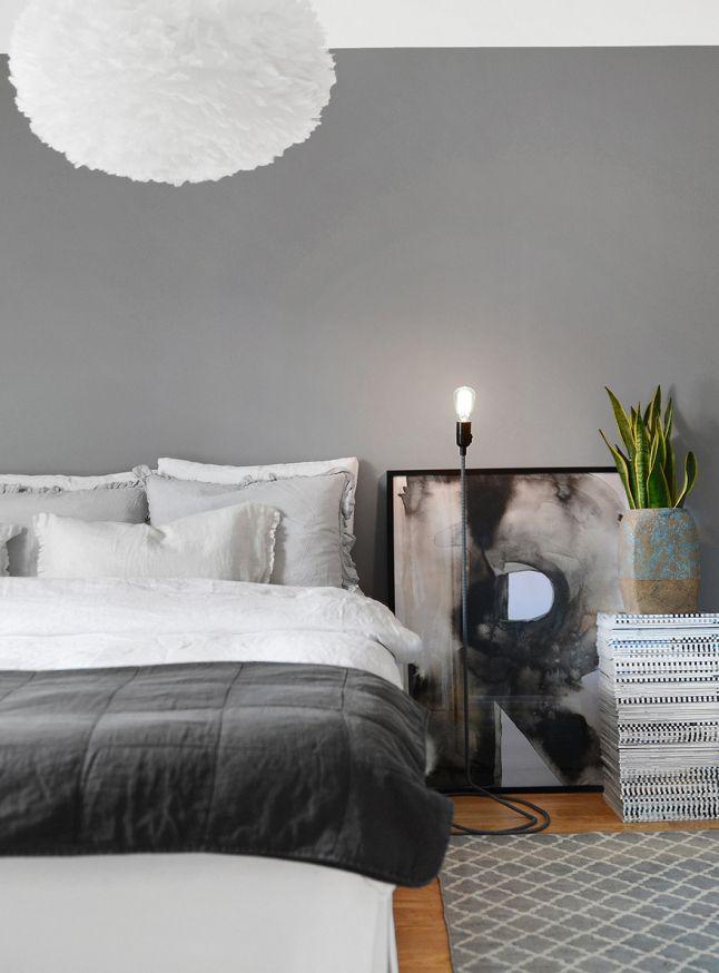 17 meilleures id es propos de chambre grise blanche sur pinterest d cor d - Chambre blanche et grise ...
