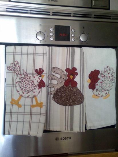Paños de cocina de patchwork  algodón 100% hecho a mano