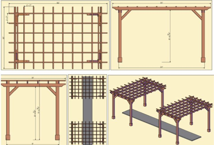 fabriquer une pergola instructions et mod les inspirants photos pergolas et bricolage. Black Bedroom Furniture Sets. Home Design Ideas