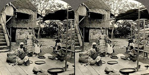 https://flic.kr/p/5ujY2k | FILIPINOS WINNOWING RICE OUT ON PANACAN ISLAND in PALAWAN | This is a great shot of rural life in the Philippines. But the only thing I can think of when I see it is, what kind of nut would haul a stereo camera all the way out to Palawan just to get a few 3-D shots of the place 100 years ago ? Probably someone like Okinawa_Soba who has been known to do the same thing......