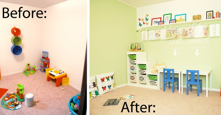 Small Playroom Ideas   Shwin: Playroom Reveal {Before and After}