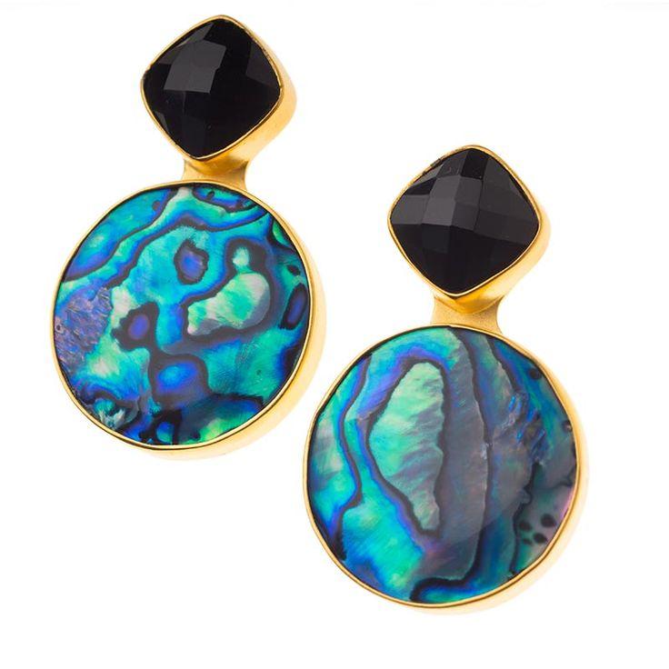 Dina Mackney Italian Glass & Topaz Stud Earrings kirjDxIjCh