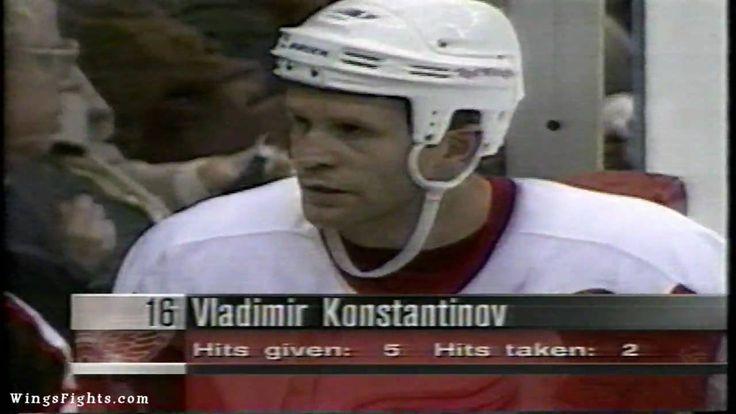 Vladimir Konstantinov Lays Out Peter Forsberg