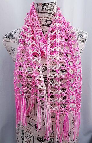 Gratitude Scarf - free crochet pattern by Buttonnose Crochet