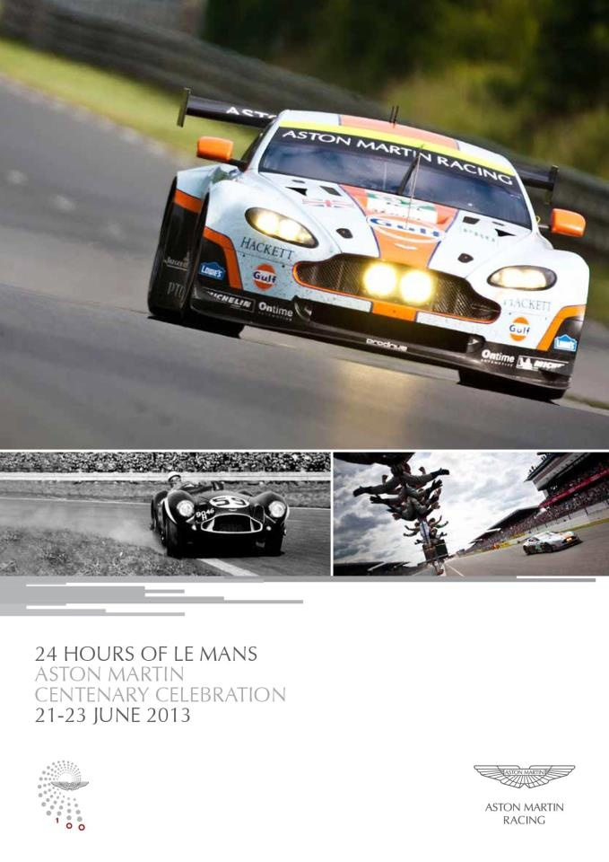 Taking place before the legendary 24hrs of Le Mans race on 21st June, Aston Martin Racing are holding a unique Centenary Celebration. On the morning of the race 100  Aston Martin owners will complete a spectacular parade lap of the  iconic La Sarthe circuit in front of 250,000 expectant race fans.