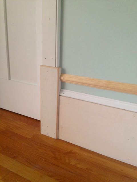 Thick baseboards