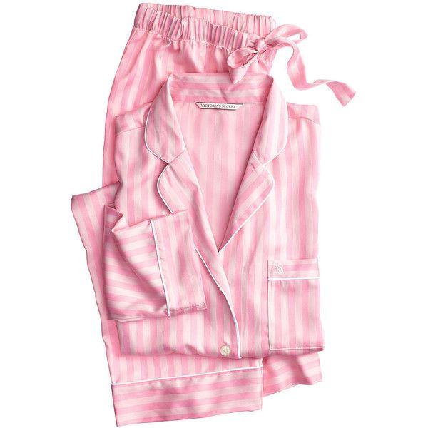 The Afterhours Satin Pajama ($71) ❤ liked on Polyvore featuring intimates, sleepwear, pajamas, victoria's secret, satin pajamas, victoria secret pajamas, satin sleepwear and victoria secret pjs