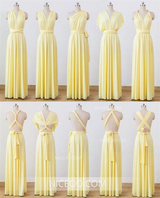 c6721da6d196e Pale Yellow Infinity Bridesmaid Dresses,Convertible Dresses ...